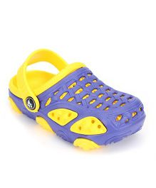 Cute Walk Clogs With Back Strap - Blue Yellow