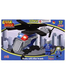 Best Lock Police Helicopter Set - 37 Pieces