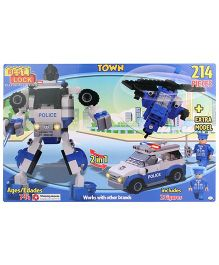 Best Lock Police Robot Construction Set - 214 Piece