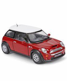 Kinsmart Die Cast Mini Cooper S2002 Metal Car Toy - Red