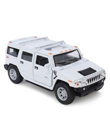 Kinsmart Pull Back 2008 Hummer SUV Model Toy Car - White