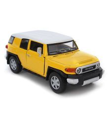 Kinsmart Pull back Toyota FJ Cruiser - Yellow