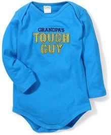 Babyhug Full Sleeves Onesies Tough Guy Print - Blue