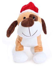 Dimpy Stuff Christmas Dog Soft Toy Orange - 24 cm