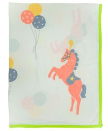 Little Bum Horse Print Dohars - Red
