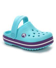 Crocs Clogs With Back Strap - Sea Blue Purple