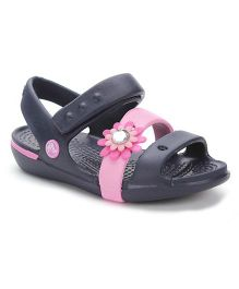 Crocs Sandals With Velcro Closure - Dark Navy