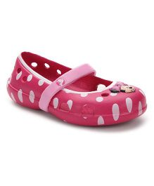 Crocs Polka Dot Clogs Minnie Mouse Motif - Dark Pink