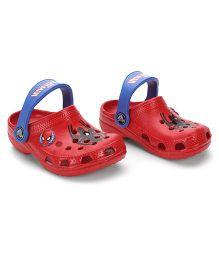 Crocs Clogs Spiderman Print - Red Blue