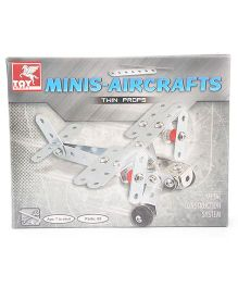 Toy Kraft - Minis Aircraft Twin Props - 65 Pieces