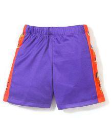 Chhota Bheem Side Stripes Printed Swim Trunks Shorts - Purple & Orange