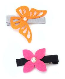 Chotee Flower & Butterfly Alligator Clip - Multicolour