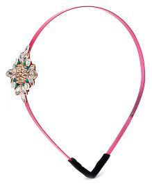 Chotee Stone and Maal Motif Hairband - Pink