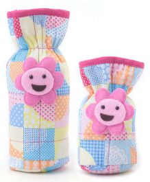 1st Step Bottle Cover Pack of 2 Multi Print - Pink