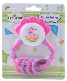1st Step Rattle Teether - Pink and Violet