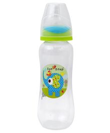 1st Step Feeding Bottle White and Light Green - 250 ml