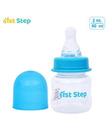1st Step Feeding Bottle - White and Blue