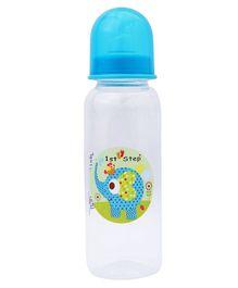 1st Step Feeding Bottle White and Blue - 230 ml