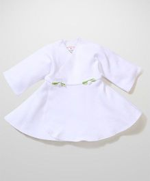 Dear Tiny Baby Wrap Dress - White