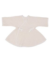 Dear Tiny Baby Wrap Dress - Beige