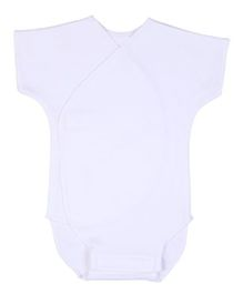 Dear Tiny Baby Short Sleeves Solid Color Onesies - White