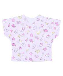 Dear Tiny Baby Short Sleeves Vest - Pink
