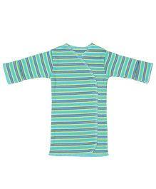 Dear Tiny Baby Long Sleeves Striped Vest - Green