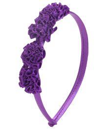Stol'n Flower Motifs Hairband -  Purple