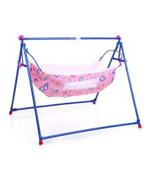 Mothertouch Indo Cradle Bear Print - Pink