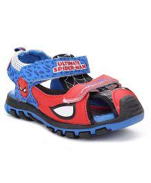 Spider Man Sandals Velcro Closure - Blue Red