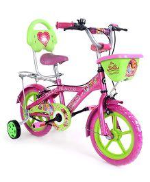 Hero Cycles Disney Princess Bicycle Green Pink - 14T