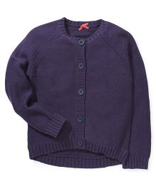 Mothercare Full Sleeves Chunky Knit Cardigan - Navy Blue
