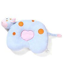 Hippo Design Baby Pillow - Blue