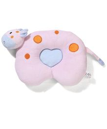 Hippo Design Baby Pillow - Baby Pink