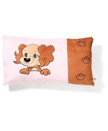 Dog Print Pillow - Pink