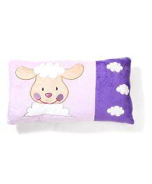 Animal Patch Pillow - Purple