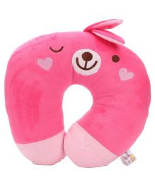 Animal Face Neck Support Pillow - Pink