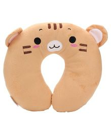 Animal Face Neck Support Pillow - Beige