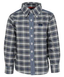 Bells and Whistles Casual Check Shirt - Grey
