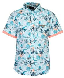 Bells and Whistles Half  Sleeves Printed Casual Shirt - Blue
