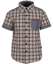 Bells and Whistles Casual Check Shirt -Metallic Grey