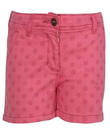 Bells and Whistles Shorts Polka Dots Print - Pink