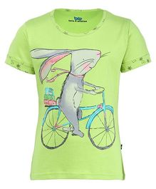 Bells and Whistles Short Sleeves Top Rabbit Print - Green