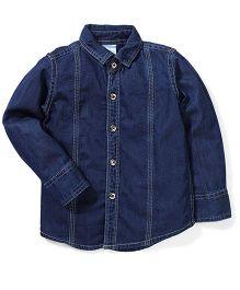 Babyhug Full Sleeves Denim Shirt - Navy Blue