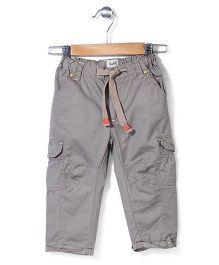 Pinehill Stripe Trouser With Drawstring - Grey