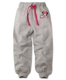 Disney by Babyhug Minnie Print Track Pant - Grey