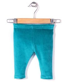 Yellow Duck Solid Color Leggings - Blue