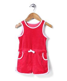 Mothercare Sleeveless Jumpsuit - Red