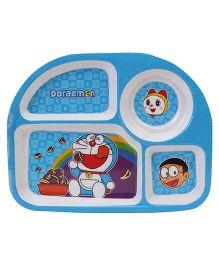 Doraemon Dinner Plate - Blue And White