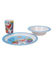 B Vishal Doraemon Dinner Set - 3 Pieces